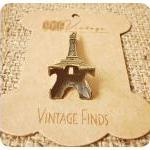 Eiffel Tower Brass Charm Metal