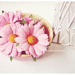 Daisy Pink Mulberry paper flower / ..