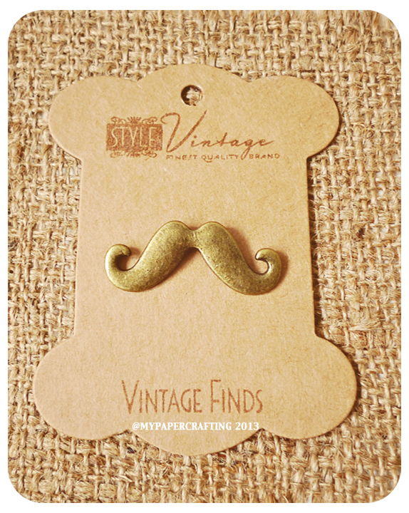 Moustache Brass Charm Metal