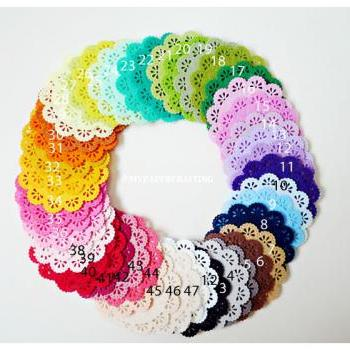 Doily Felt / Felt Doily for card making or scrap booking - Design #4