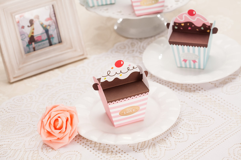 Diy Wedding Gift Box: DIY Cupcake / Ice-cream Favor Wedding Box // Wedding Favor